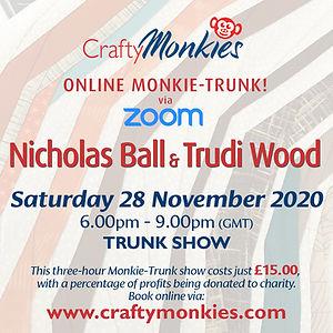 CraftyMonkies Nicholas Ball & Trudi Wood Talk Improv Quilting Online Interactive Class Crafting Trunk Show