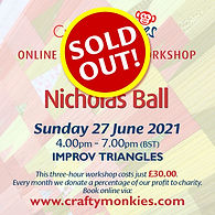 CraftyMonkies Nichols Ball Online Interactive Workshop Improv Triangles