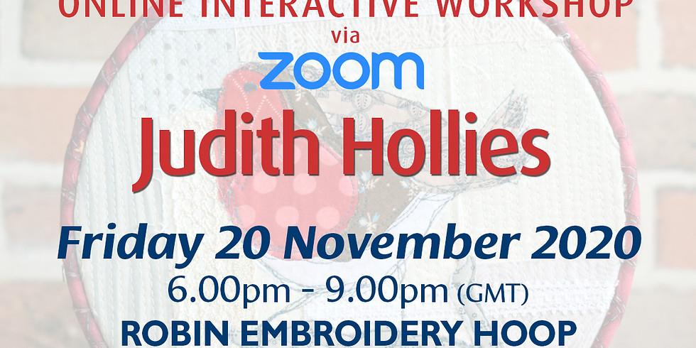 Friday 20 November 2020: Online Workshop (Robin Embroidery Hoop)