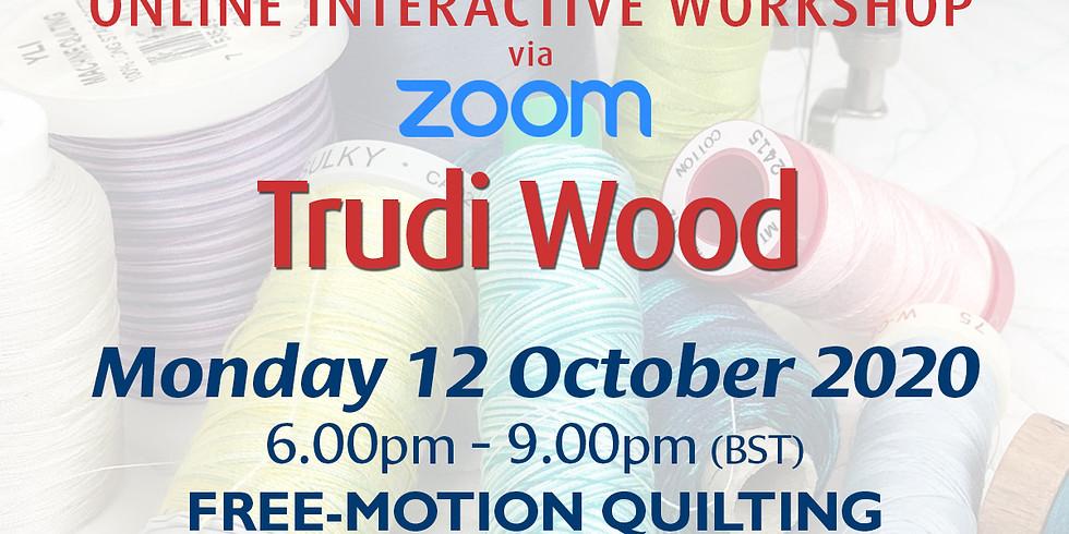 Monday 12 October 2020: Online Workshop (Free Motion Quilting)