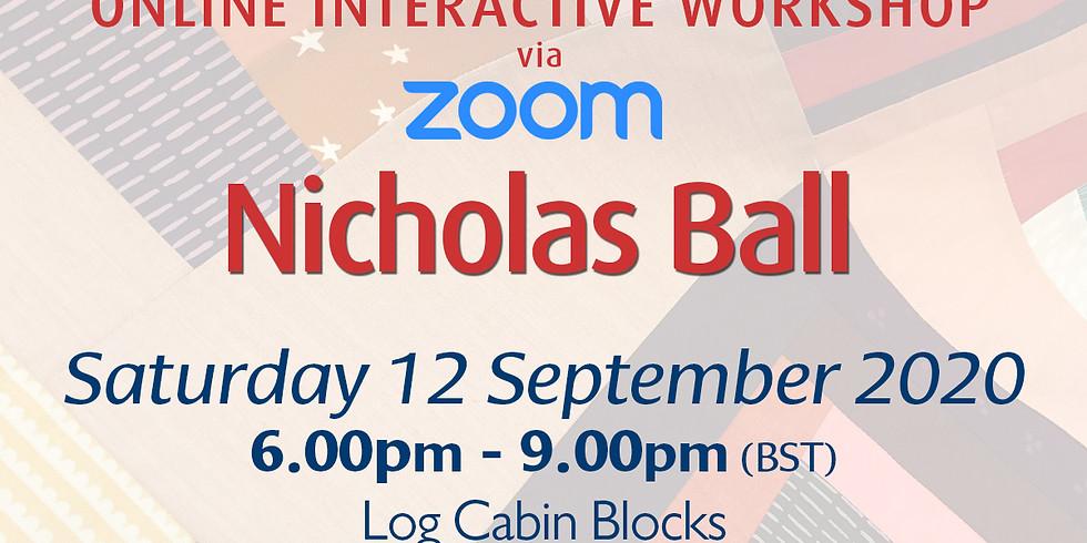 Saturday 12 September 2020: Online Workshop (Log Cabin Blocks)