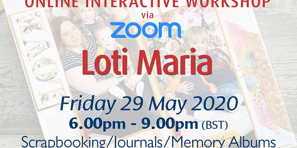 Friday 29 May 2020: Online Workshop (Scrapbooking)