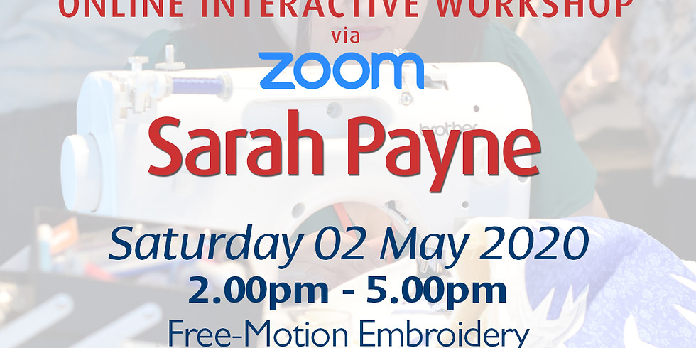 Saturday 02 May 2020: Online Tutorial (Free-Motion)