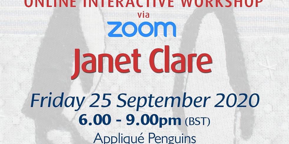 Friday 25 September 2020: Online Workshop (Appliqué Penguins)