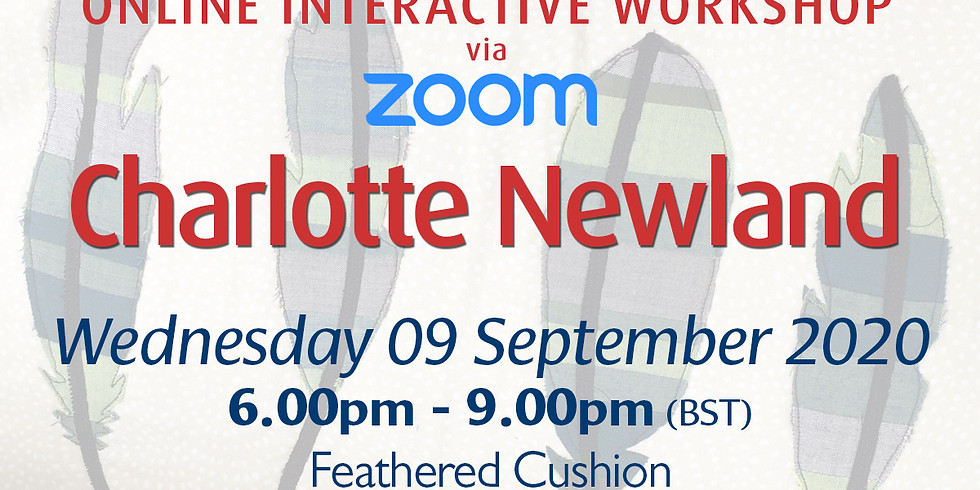 Wednesday 09 September 2020: Online Workshop (Cushion Cover)