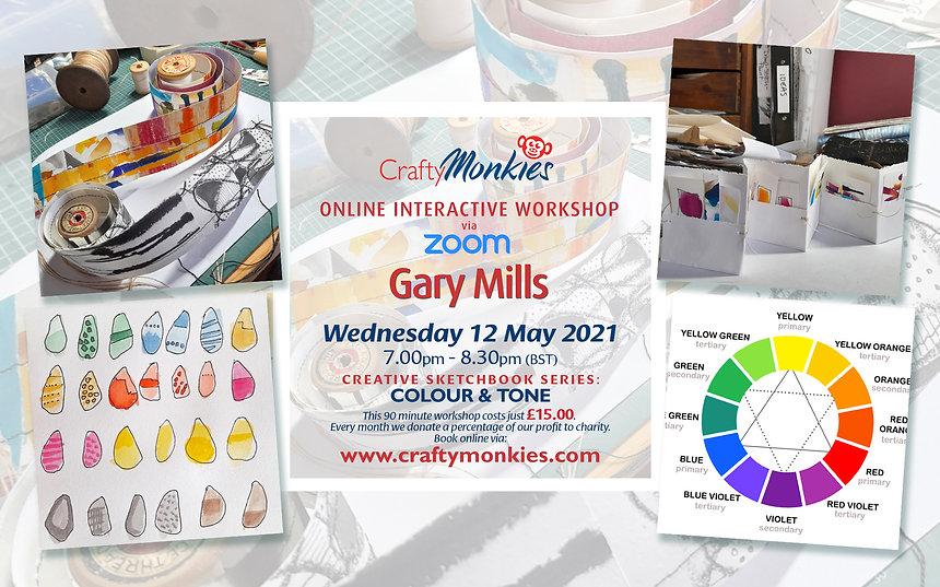 CraftyMonkies Online Interactive Workshops Gary Mills Colour & Tone!