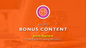 Take 3 Private Members Club Online Videos Craft Techniques Bonus Content Top Tutor Jennie Rayment Rotary Cutting Wizardry
