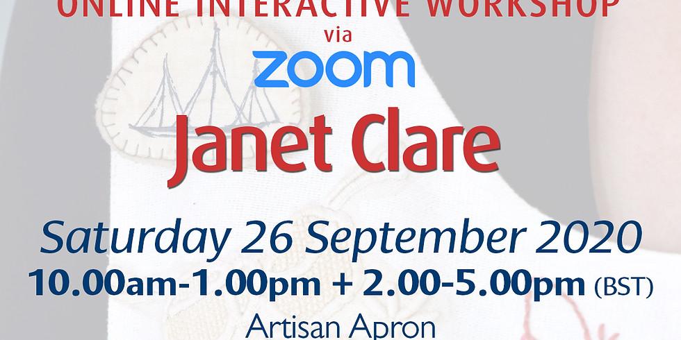 Saturday 26 September 2020: Online Workshop (Artisan Apron)