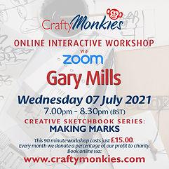 CraftyMonkies Online Interactive Workshops Gary Mills Making Marks