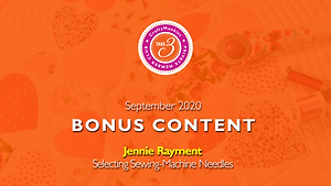 Take 3 Private Members Club Online Videos Craft Technique Bonus Content Top Tutors Jennie Rayment Selecting Sewing Machine Needles