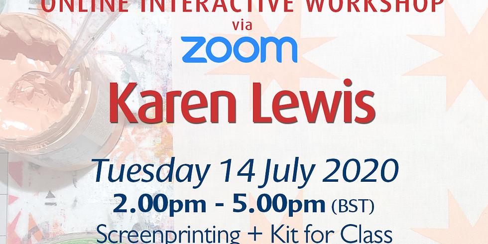 Tuesday 14 July 2020: Online Workshop (Screenprinting)