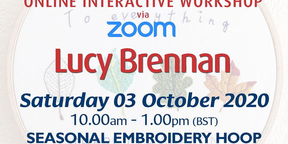 Saturday 03 October 2020: Online Workshop (Seasonal Embroidery Hoop)