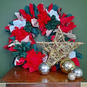 CraftyMonkies Gary Mills Online Interactive Crafting Workshop Christmas Wreath Decoration