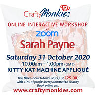 Online Interactive Workshop Class Sarah Payne Machine Appliqué