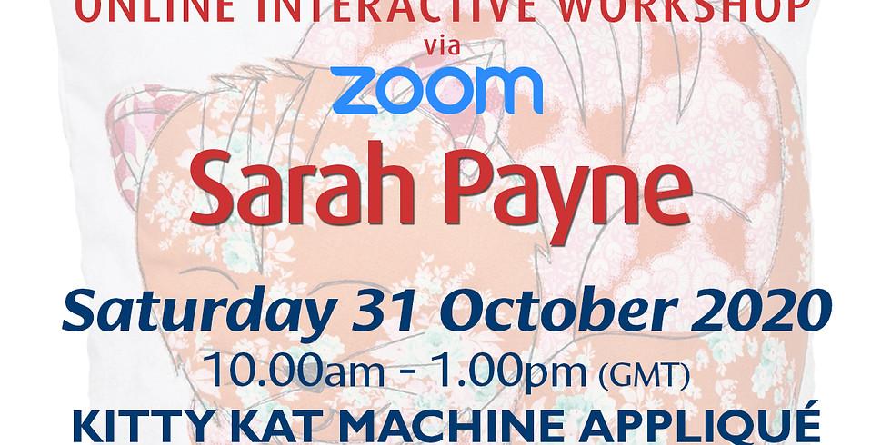 Saturday 31 October 2020: Online Workshop (Kitty Kat Machine Appliqué)