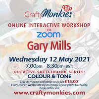 CraftyMonkies Online Interactive Workshops Gary Mills Colour & Tone