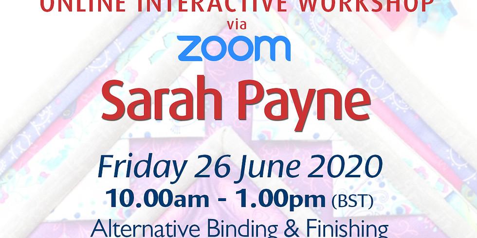 Friday 26 June 2020: Online Workshop (Alternative Binding & Finishing)