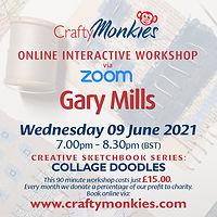 CraftyMonkies Online Interactive Workshops Gary Mills Collage Doodles