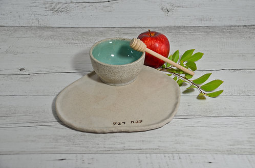 Ceramic Apple and Honey set for Rosh Hashana by Miller's Pottery Australia