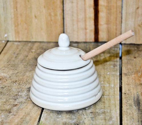handmade ceramic beehive honey pot