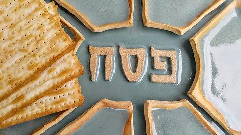 Handmade ceramic Pesach Passover plate by Miller's Pottery Australia