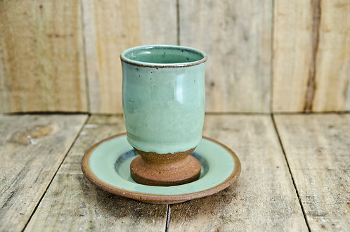 Handmade ceramic goblet Kiddush Cup