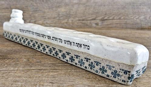 handmade ceramic Hanukkah Menorah and Judaica by Miller's Pottery Australia
