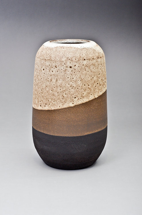 black clay decorative handmade vase by Miller's Pottery Australia