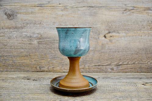 Handmade ceramic Kiddush Cup / goblet by Miller's Pottery Australia