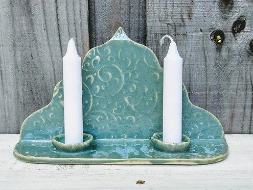 handmade ceramic Shabbat Candles