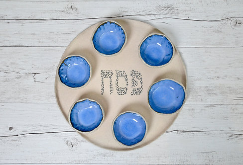 ceramic serving platter for Pesach Seder / Passover by Miller's Pottery Australia