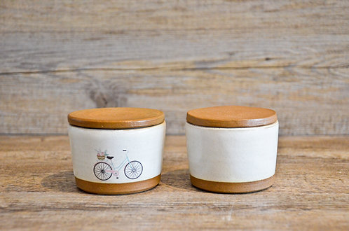 Handmade ceramic salt & pepper pinch pots by Miller's Pottery Australia