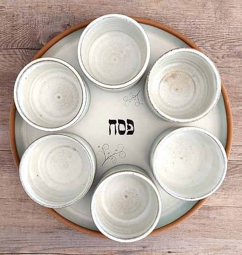 Handmade Pesach (Passover) Seder serving platter by Miller's Pottery Australia