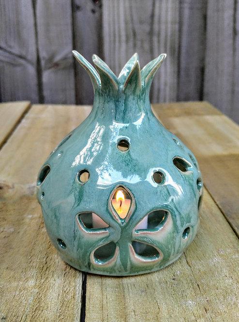 Handmade ceramic pomegranate candle holder