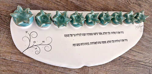 handmade ceramic Hanukkah Menorah and Judaica by Miller's Pottery Australia