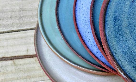 Miller's pottery terrecotta plates