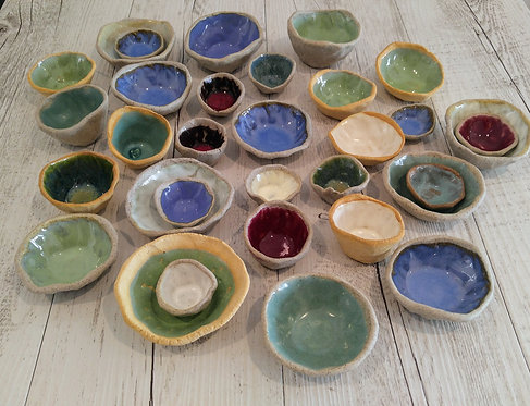 Ceramic pinch pots by Miller's Pottery