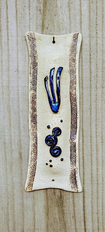 Handmade ceramic mezuzah