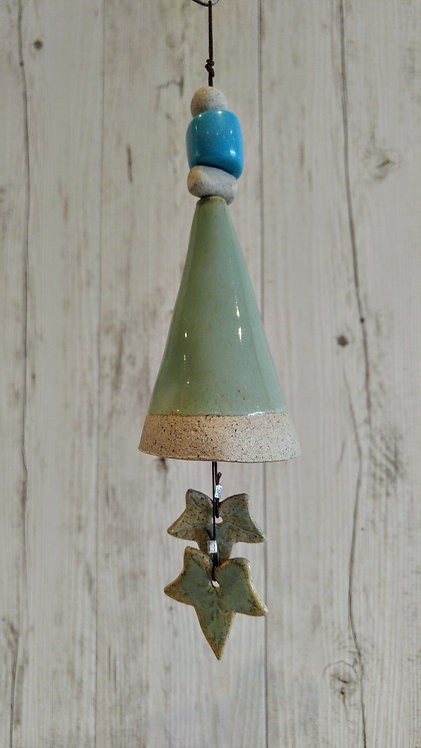 handmade ceramic bell wind chime by Miller's Pottery
