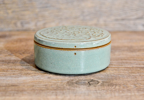 Handmade ceramic jewllery / accessories box by Miller's Pottery Australia