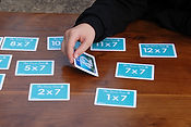 Times tables maths flash cards