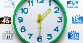 Two for one: Tell the time and crack your five times table