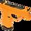 Thumbnail: Simulacro de Pistola Glock com Carregador Removível