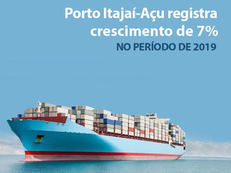 Porto de Itajaí registra crescimento de 7% durante período de 2019