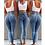 Thumbnail: High Waist Jeans for Women Slim Stretch Denim Jean Bodycon Tassel Belt Bandage