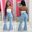 Thumbnail: Tsuretobe Ripped Jeans for Women High Waisted Jeans Fashion Flare Jeans With