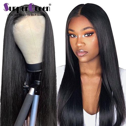 "Sunper Queen Brazilian Straight 2x6 Lace Part Wig Pre Plucked Hairline 8""-32"""