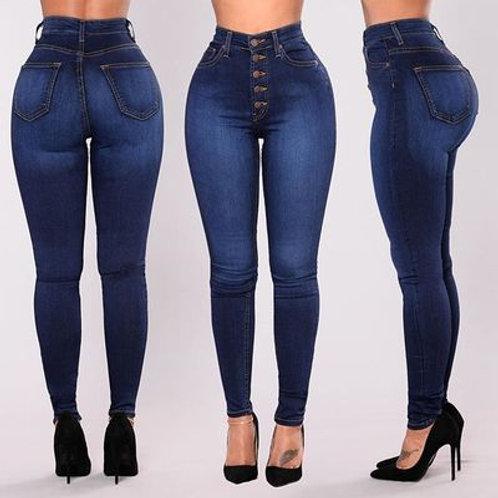 Women High Waist Denim Jeans Skinny Pencil Pants Ladies Casual Jean