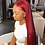 Thumbnail: Burgundy Lace Front Human Hair Wigs 13x4 Straight Colored Human Hair Wigs for