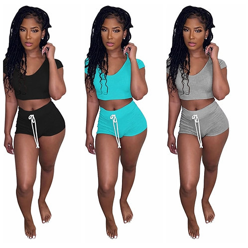 Two Piece Women Sets Tracksuit  Club Outfits for Women T Shirts Two Piece Set Fe